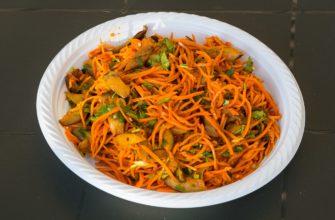 Морковь по корейски с грибами
