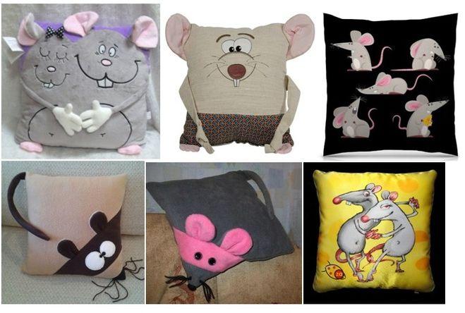 Подушка с крысой своими руками