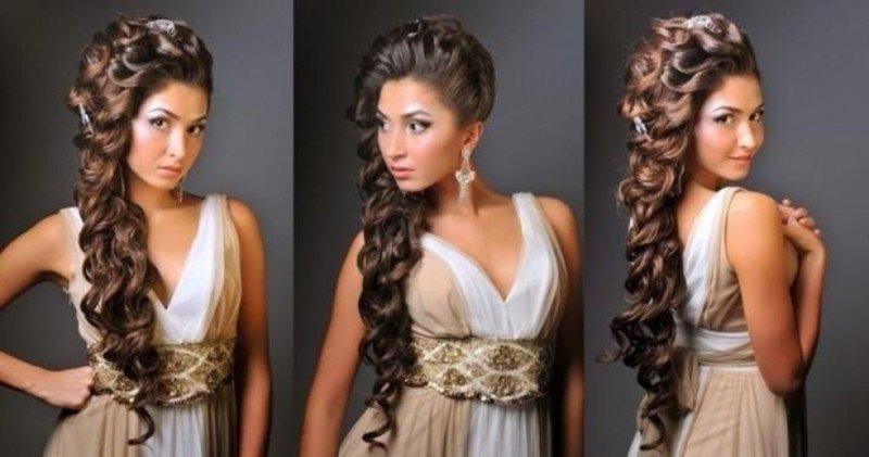 Греческие прически на длинные волосы: фото