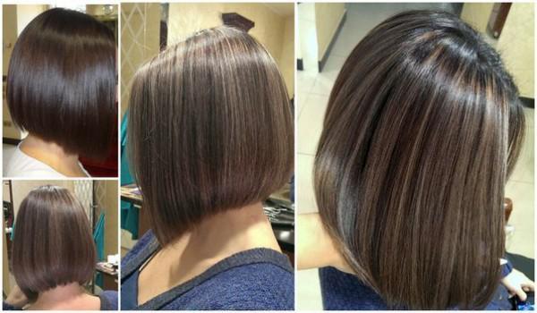 Калифорнийское мелирование на коротких волосах