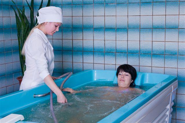 Процедура приема радоновой ванны