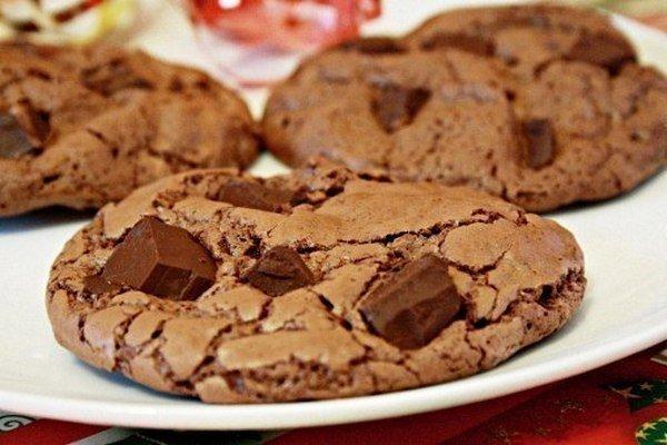Иммбирное печенье с шоколадом