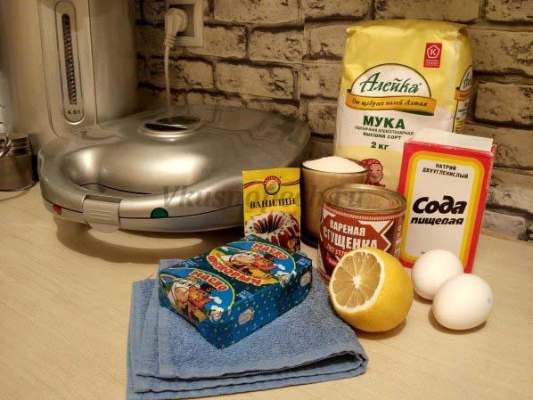 Орешки со сгущёнкойстарый рецепт