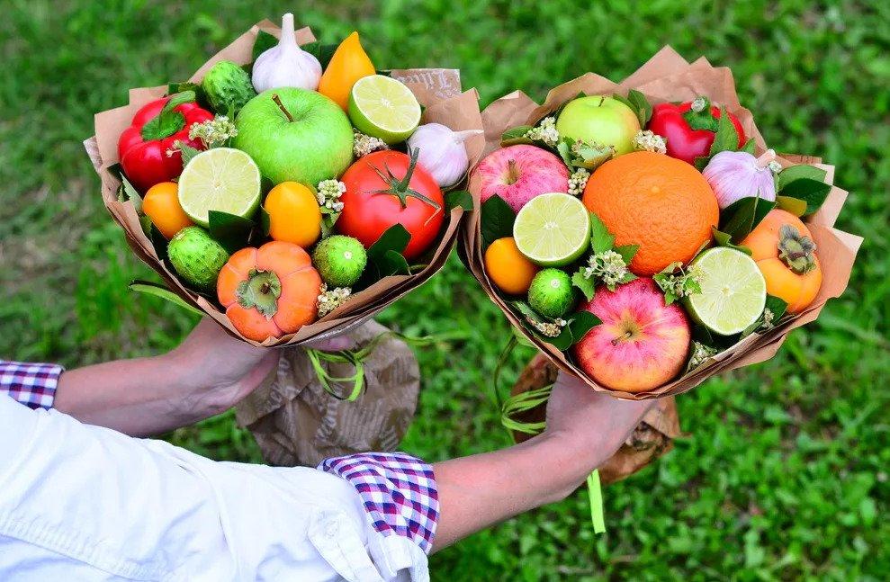 Букет из фруктов своими руками – секреты, хитрости, инструкция