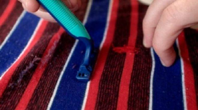 Мужская бритва для чистки катышек на одежде
