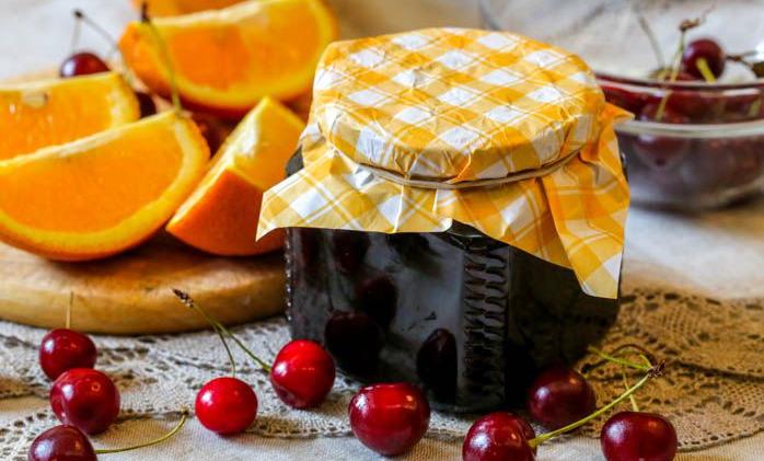 Варенье из черешни с апельсином